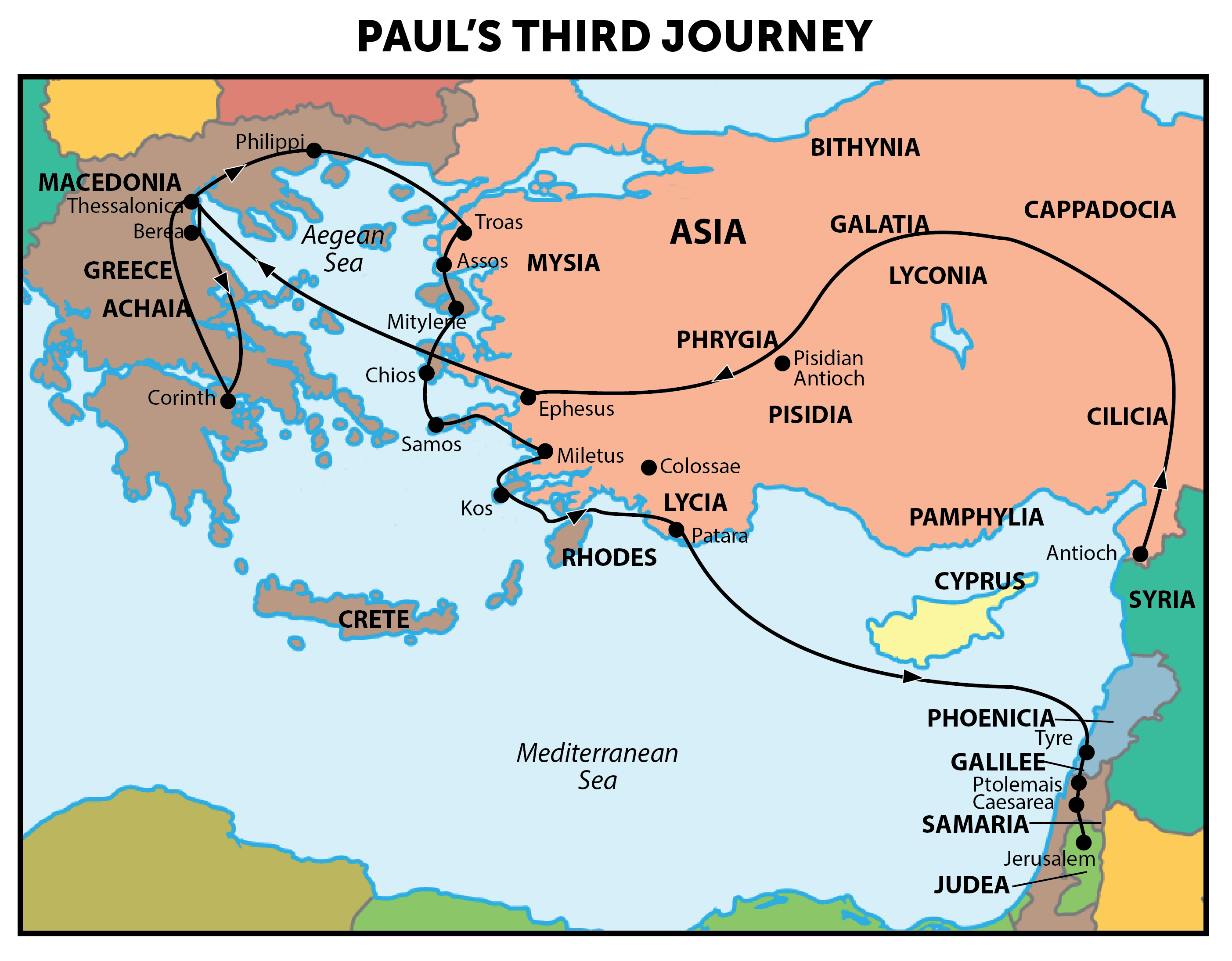 three journeys of paul essay Saul is called paul on his first missionary journey to cyprus (acts 13:9)  st paul on conversion christ is the center and key to paul's theology, for paul was.