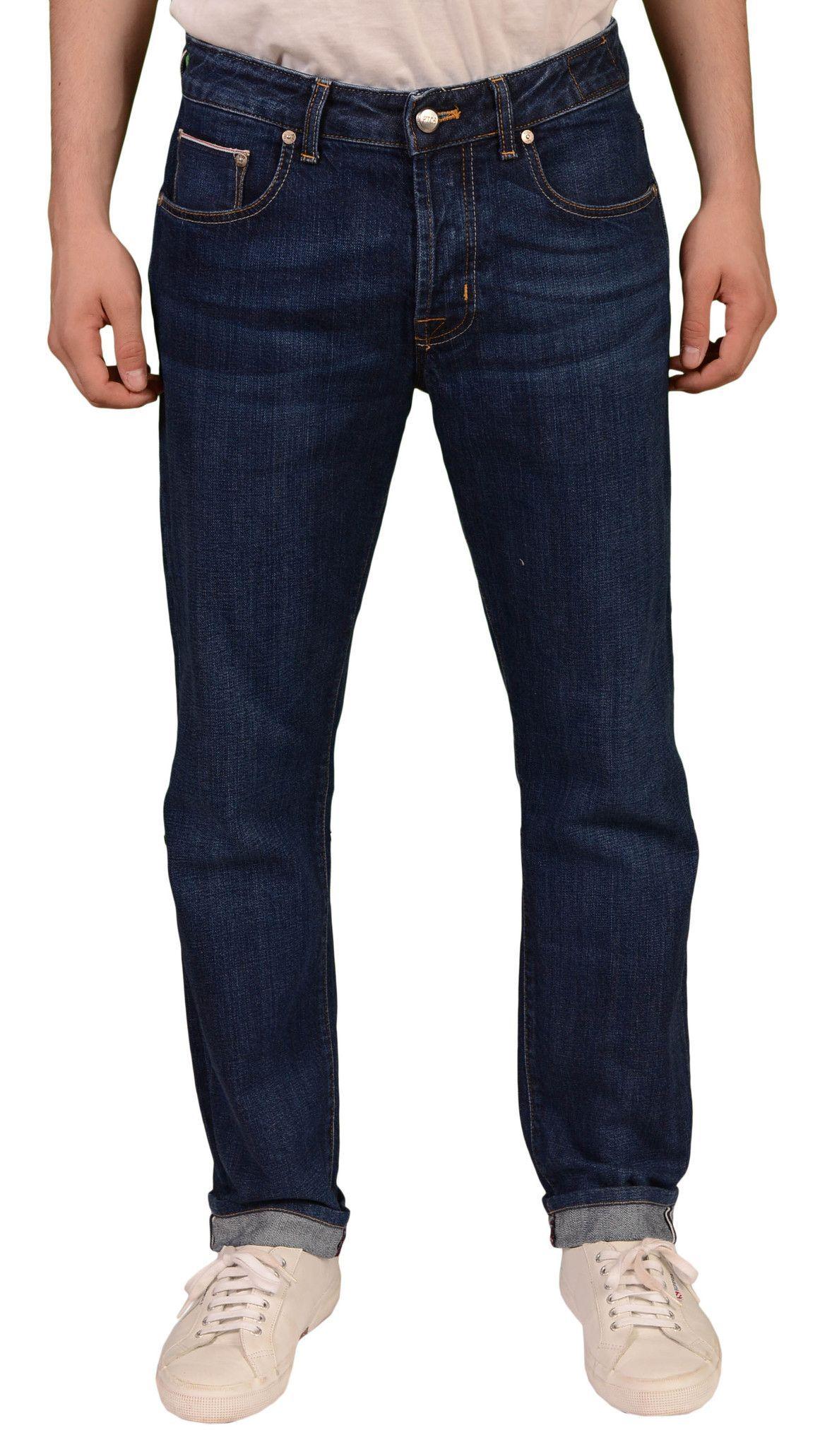 PT05 Pantaloni Torino Blue Denim Slim Fit 5 Pockets Selvedge Jeans US 31