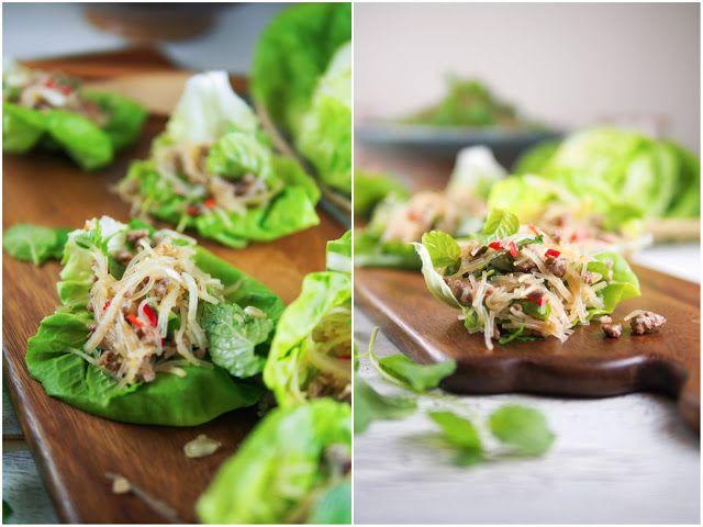 Thai beef vermicelli lettuce wraps | Foodmanna