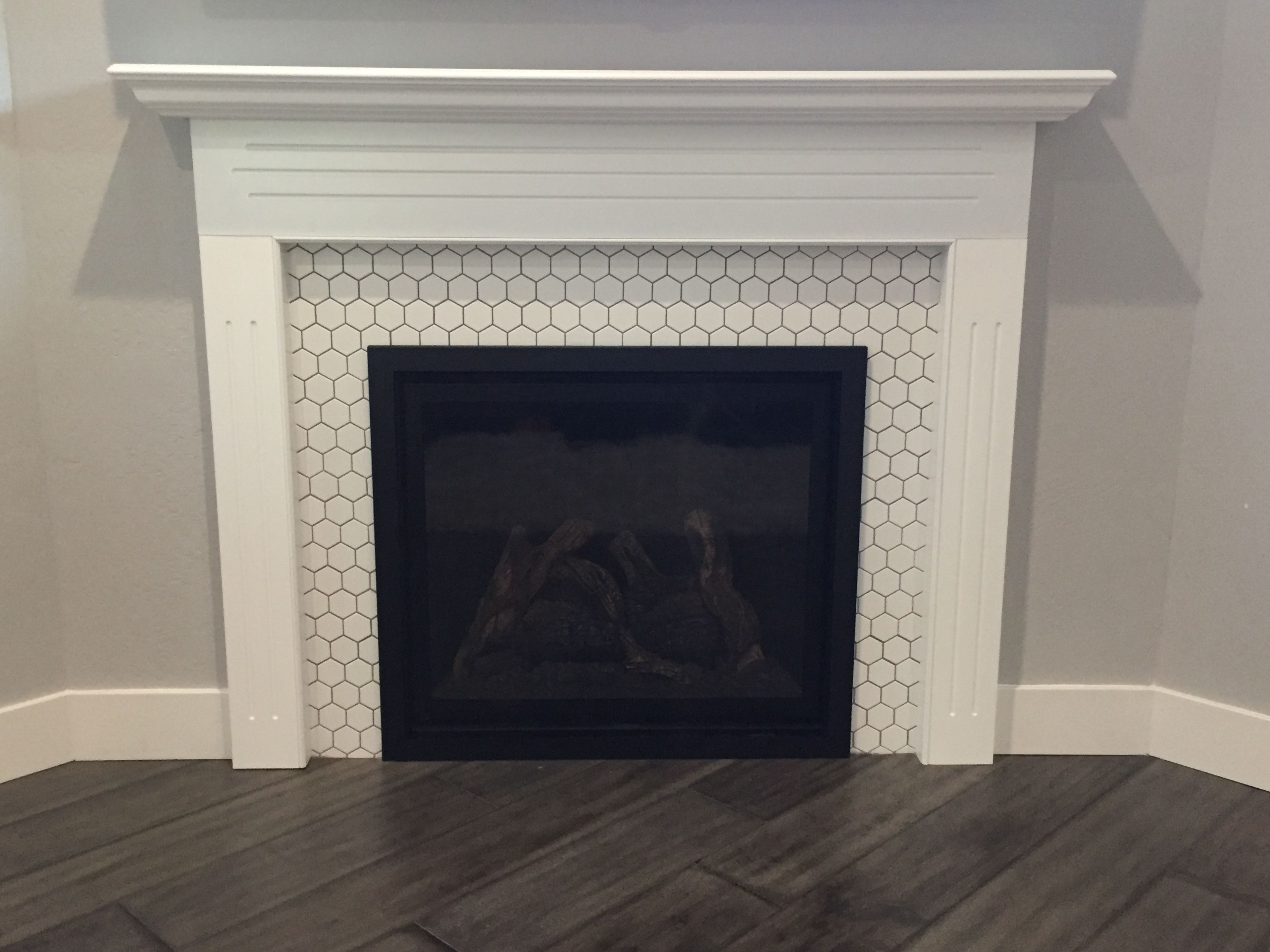 Tile Fireplace Honeycomb Design Fireplace Tile Tile Around
