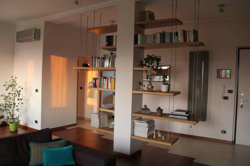 Scaffali soggiorno ~ Idee arredamento casa interior design moderno soggiorno e libri