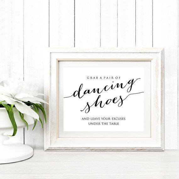 Dancing Shoes Wedding Sign By CrossvineDesigns