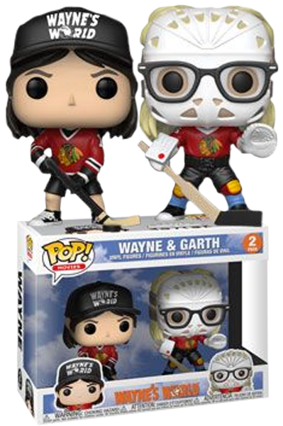 Wayne S World Wayne Garth In Hockey Gear Funko Pop Vinyl Figure 2 Pack Popcultcha Vinyl Figures Funko Pop Dolls Pop Vinyl Figures