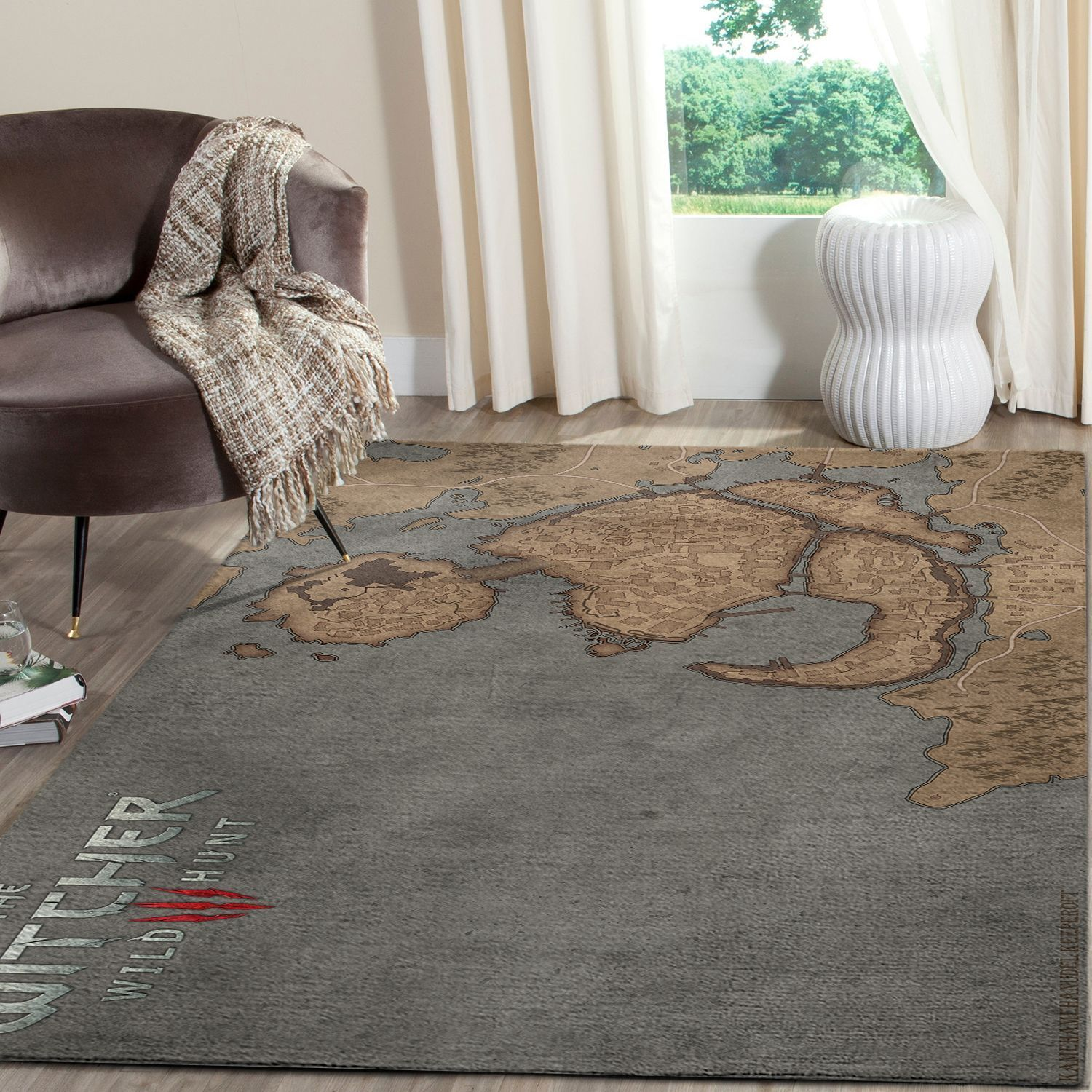 The Witcher Map Gaming Area Rugs Living Room Carpet Fn120135 Local