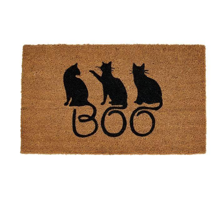 Boo Cats Doormat Pottery Barn Cats Custom Rugs