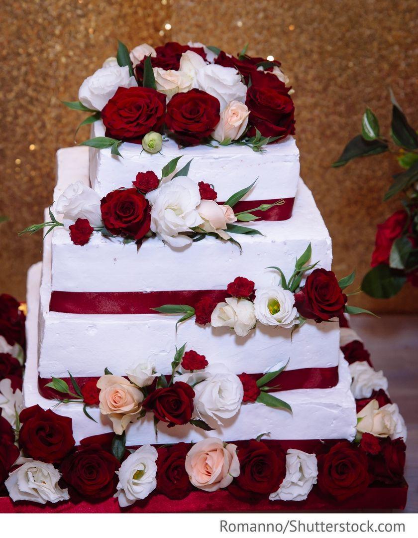 Hochzeitstorte obst 3 stockig