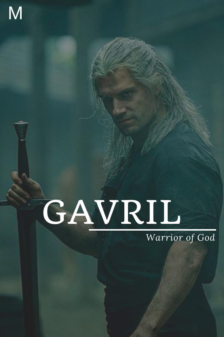 Gavril meaning Warrior of God Das schönste Bild für hippe Baby Namen , das z...