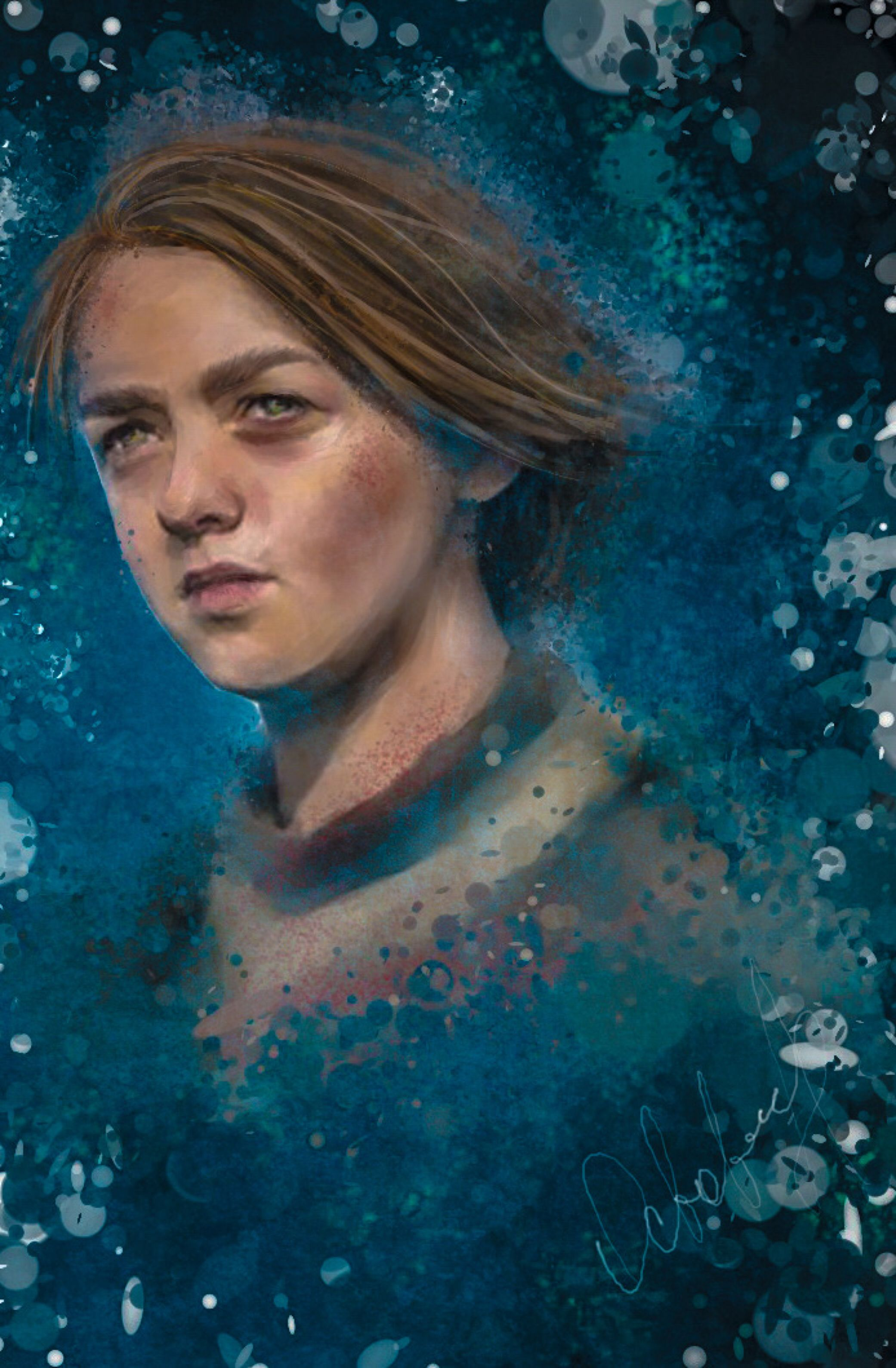 Arya Stark by Octoberrine on @DeviantArt