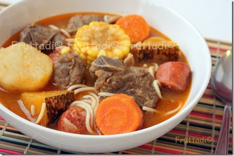 Sopa De Carne De Res Y Fideos Mexican Food Recipes Fideo Soup