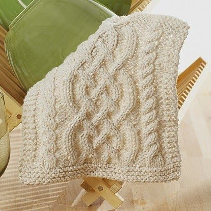 Celtic Cables Dishcloth - Free Pattern | Knitting patterns ...