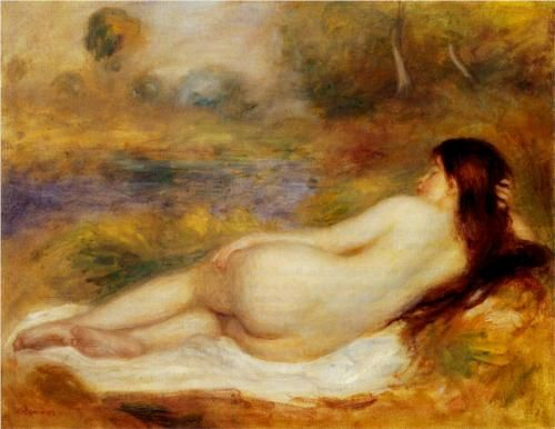 Nude Reclining on the Grass - Pierre-Auguste Renoir