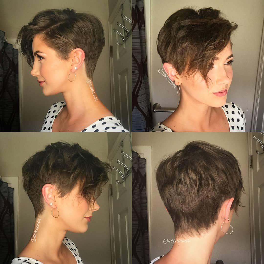 This Is Awesome Great Grid From Courtneyxcentrichair Who Says I Got Your Back Short Hair With Layers Medium Short Hair Short Pixie Haircuts
