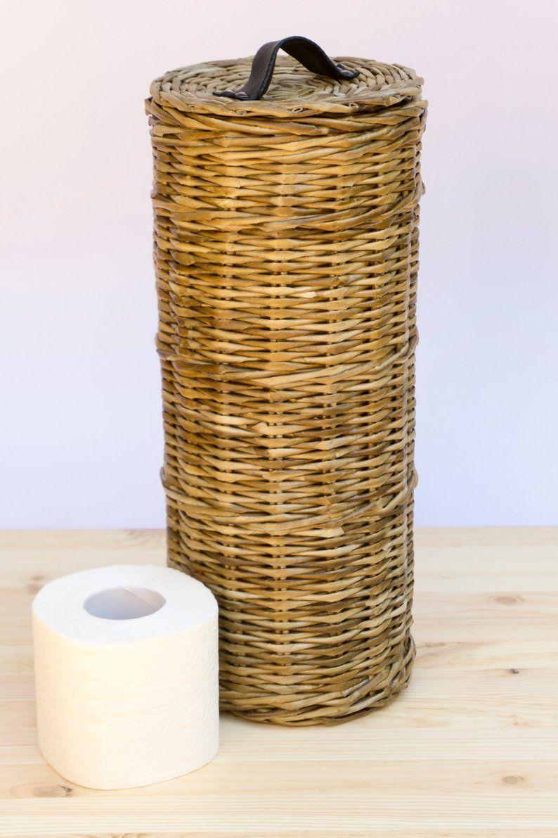 Boite Rangement Papier Wc panier de stockage de papier hygiénique lidded, porte