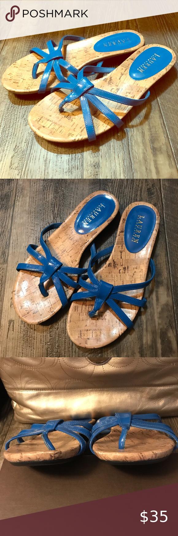Lauren Ralph Lauren blue sandals in