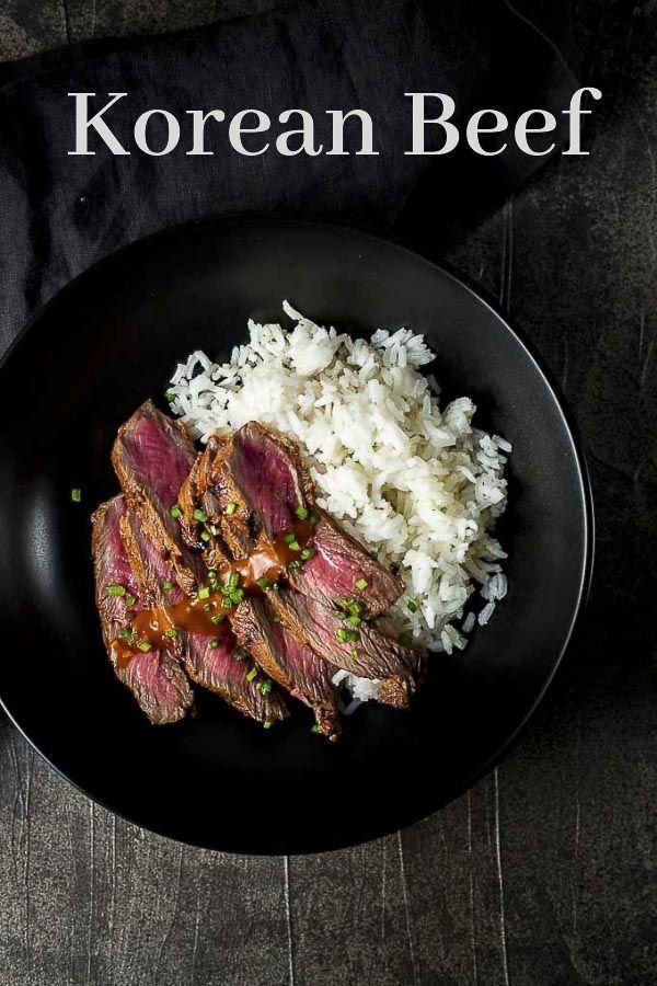 This Gochujang Marinated Korean Beef Recipe Has A Deliciously Spicy Smoky Deep Umami Flavor From The Fermented C Beef Recipes Korean Beef Recipes Korean Beef