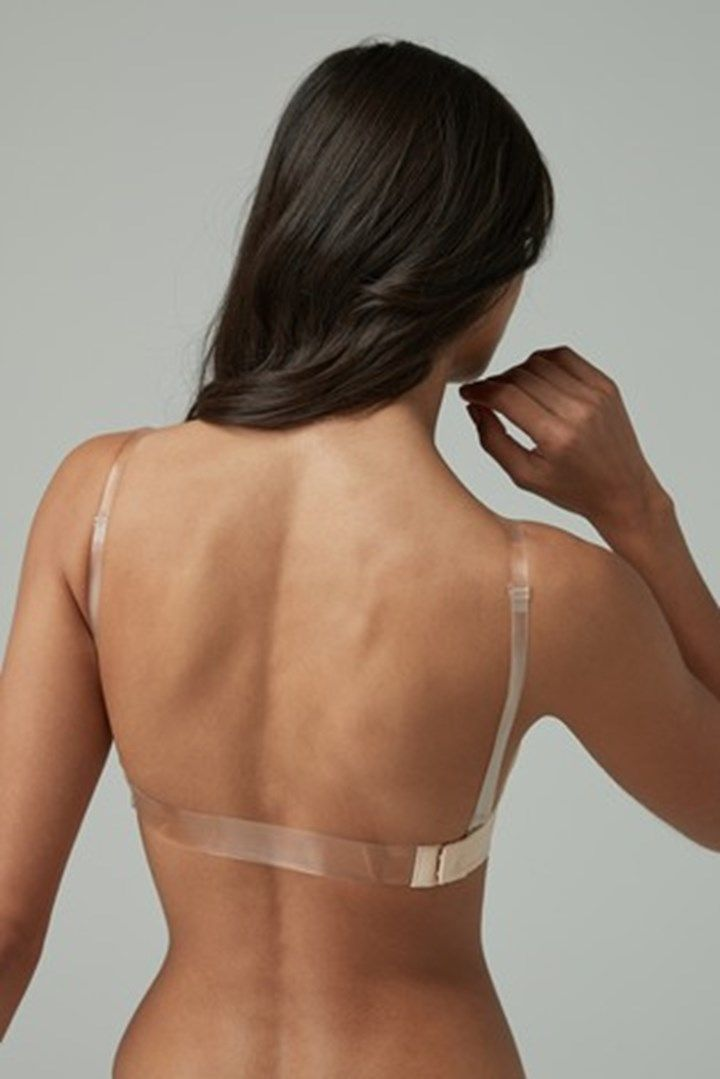 Details about  /Invisible Bra Multiway Strapless Backless Clear Back Strap WeddingDress Lingerie