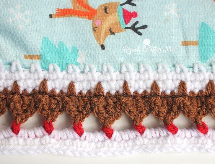 Looking for fun, whimsical crochet edging for your fleece or fabric? What about cute little foxes and reindeer! Originally inspired by fox print fleece fabric I had on hand, I thought if I could come up with a fox border, it would be perfect… but when I posted the test swatch on social media, many …