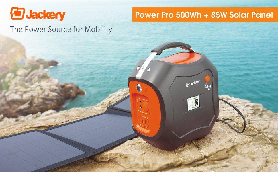 Amazon Com Jackery Powerpro 500wh 140 000 Mah Portable Solar Generator Rechargeable Power Source With Silent Jackery Portable Solar Generator Power Station