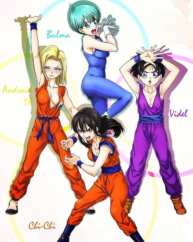 Android 18, Bulma, Videl And ChiChi