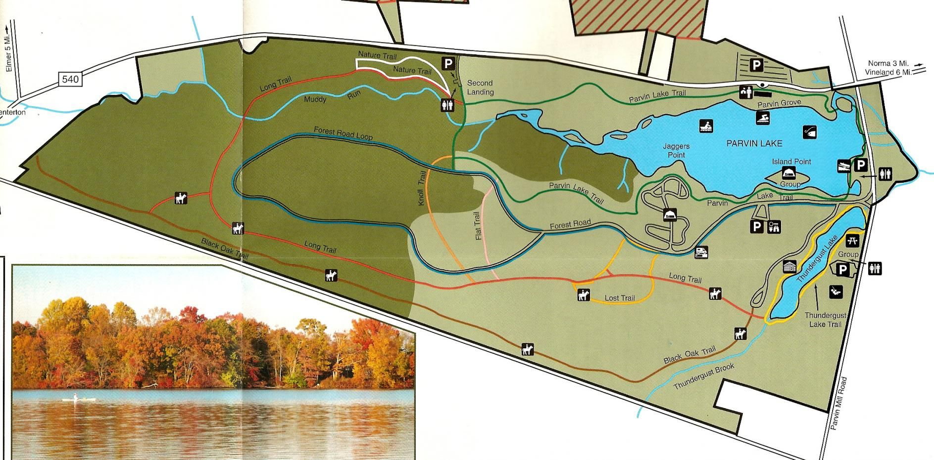 Parvin State Park NJ Map