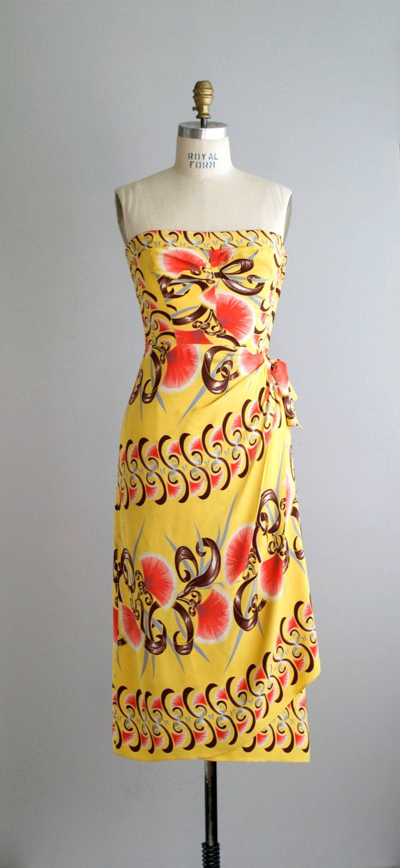 Dress vintage hawaiian Womens Vintage