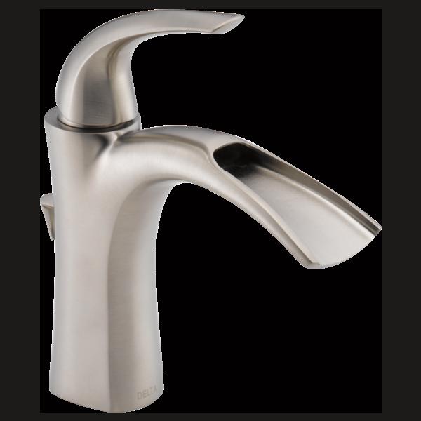 Powder Bath Faucet Delta Nyla Extension Tbd 15708Lfsseco Cool Delta Single Hole Bathroom Faucet Design Ideas