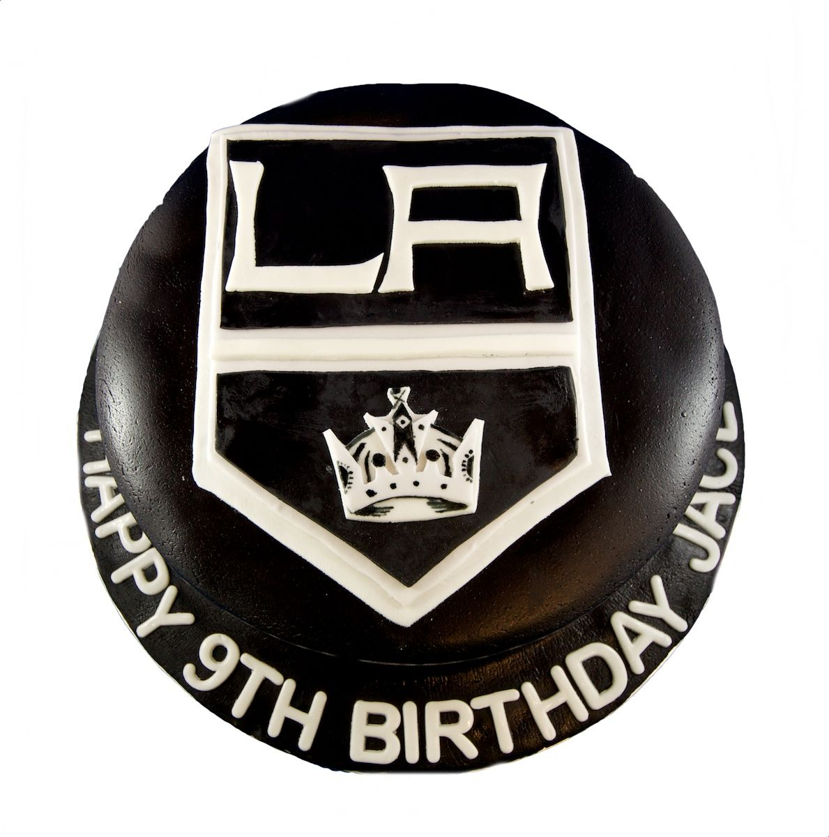 LA Kings Hockey Theme fondant cake LOS ANGELES KINGS Pinterest