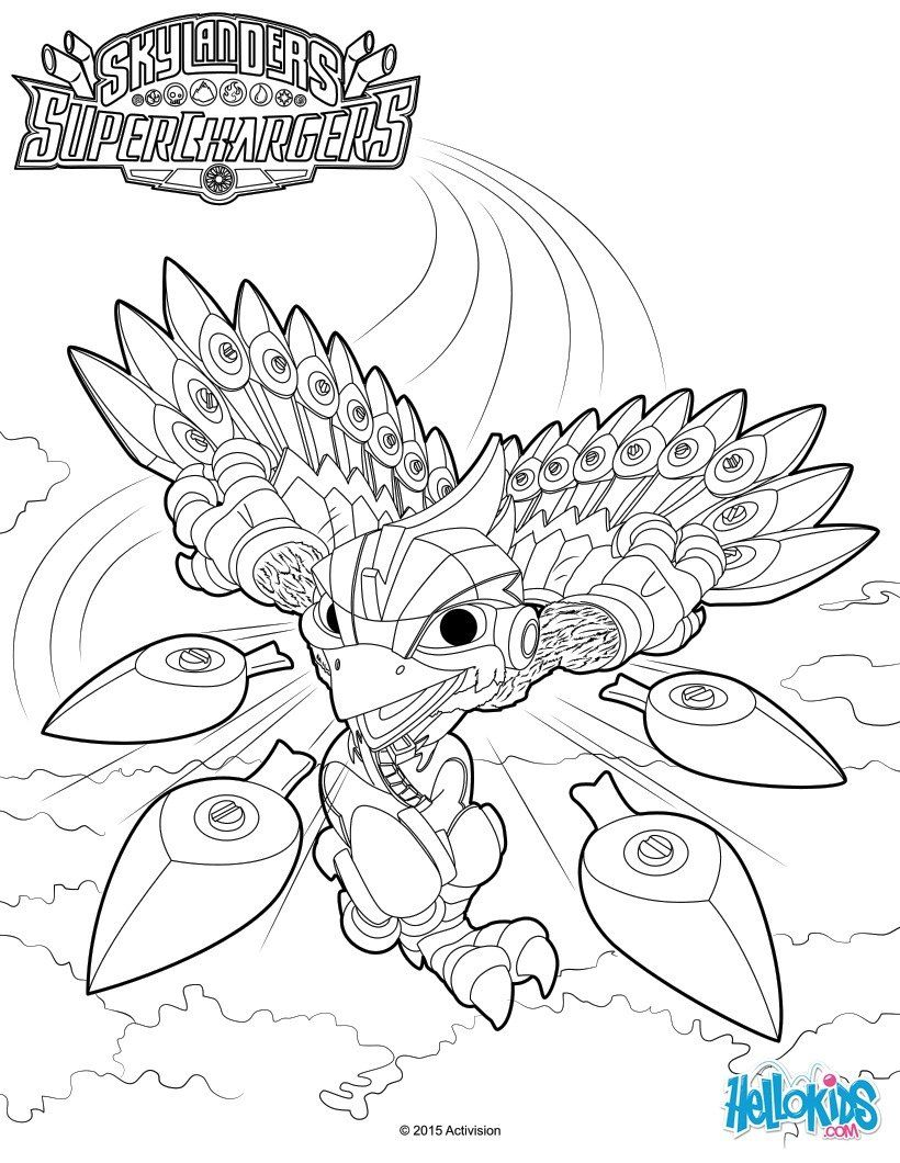 Stormblade Coloring Page Skylanders Superchargers Coloring Pages