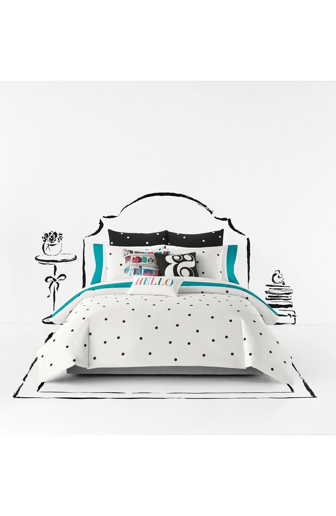 fil dot pillow set itm duvet polka quilt a on bfca cover woven case dots bedding end