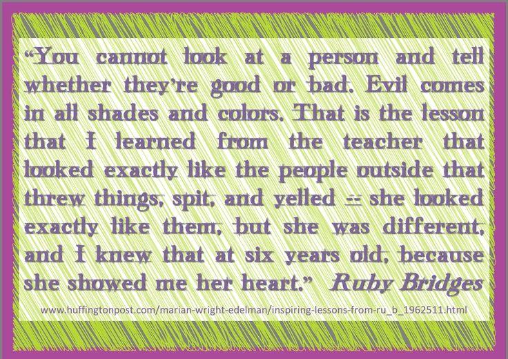 Ruby Bridges Quotes Quotes That Ruby Bridges Said  Ruby Bridges As Quotedmarian