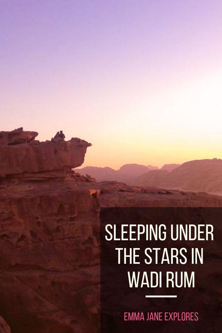 Sleeping Under The Stars In Wadi Rum #wadirum