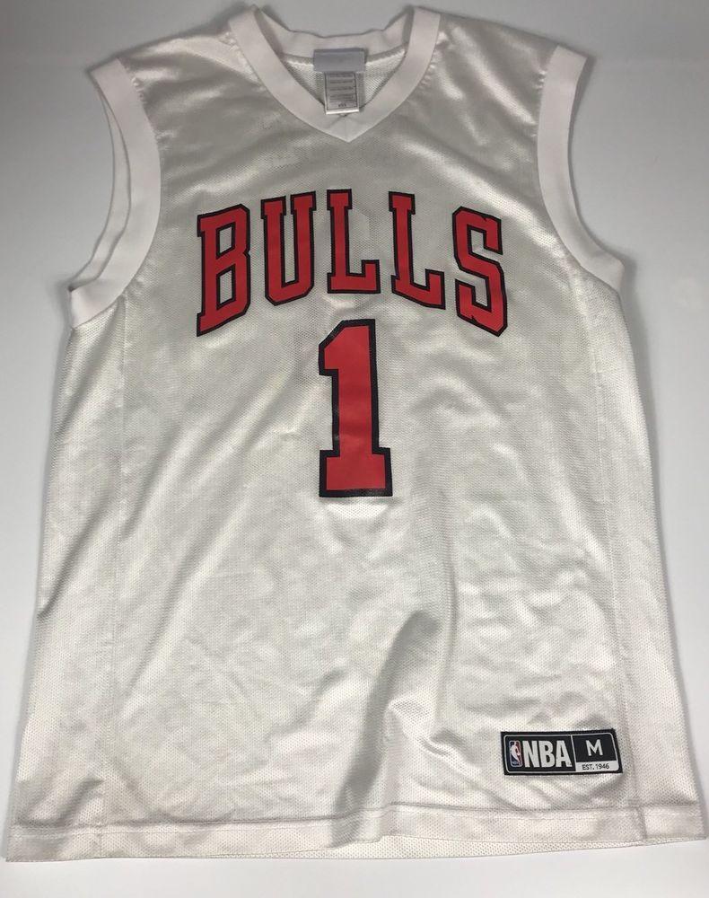 new product 21112 0444f NBA Chicago BULLS #1 Derrick Rose Basketball Jersey Team ...