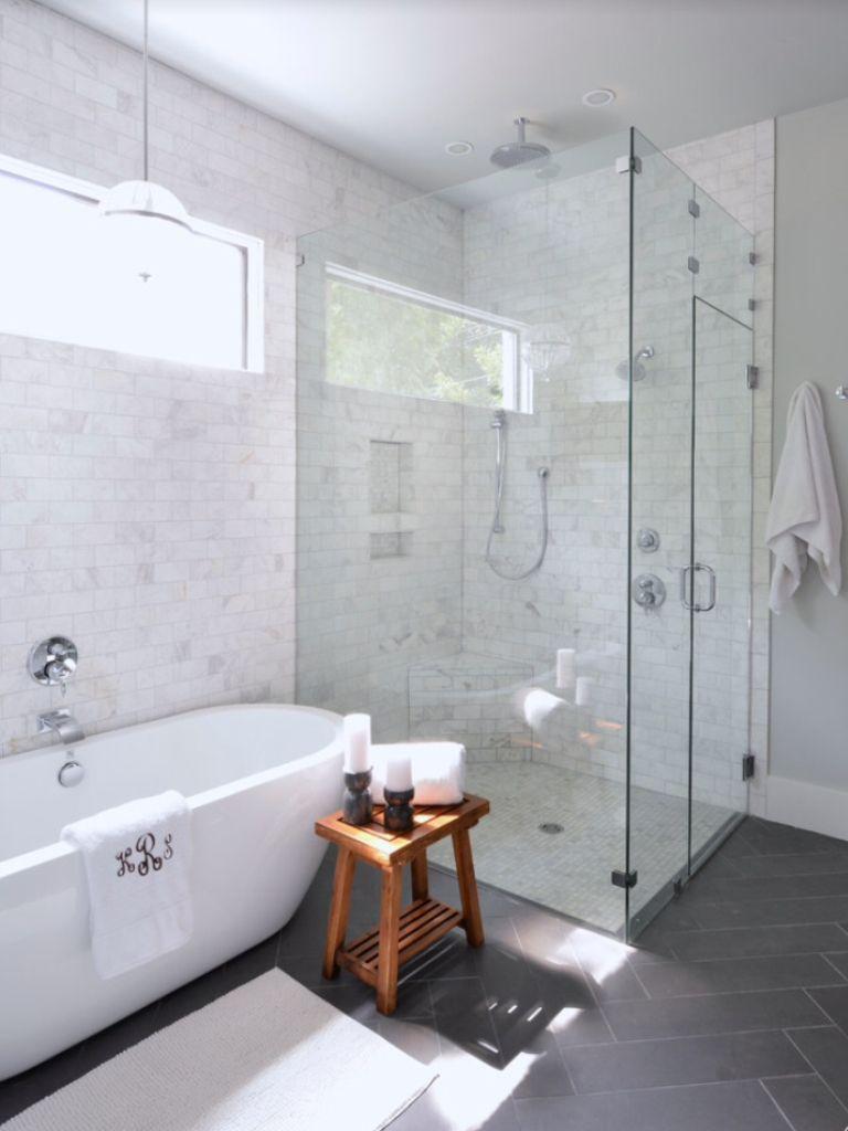 Plancher de type chevron master bathrooms pinterest bath