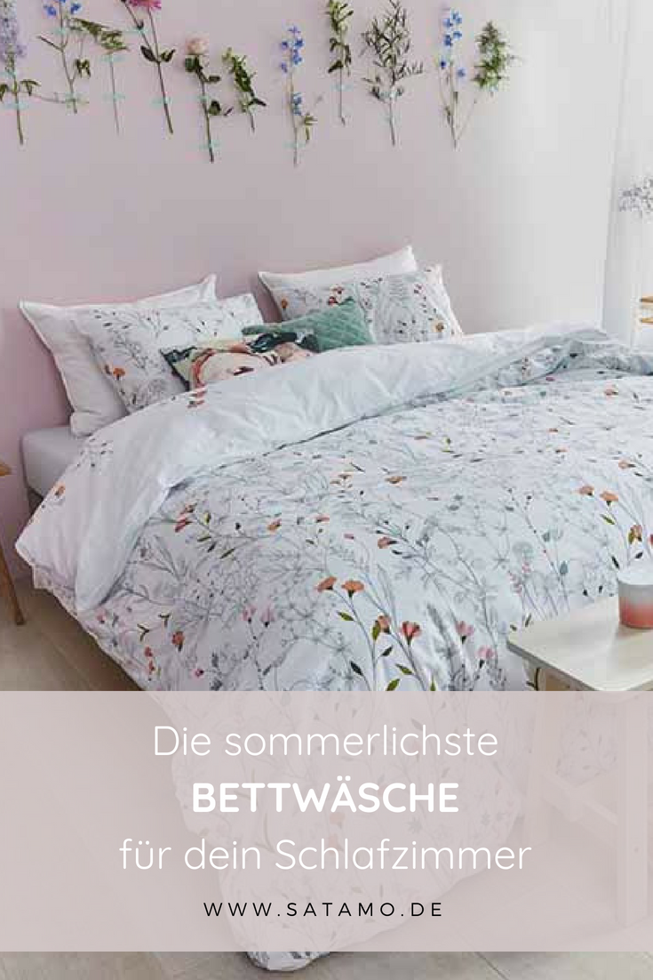 Bettwasche Weiss Mit Blumen 100 Baumwolle In 2019 Hallo Fruhling