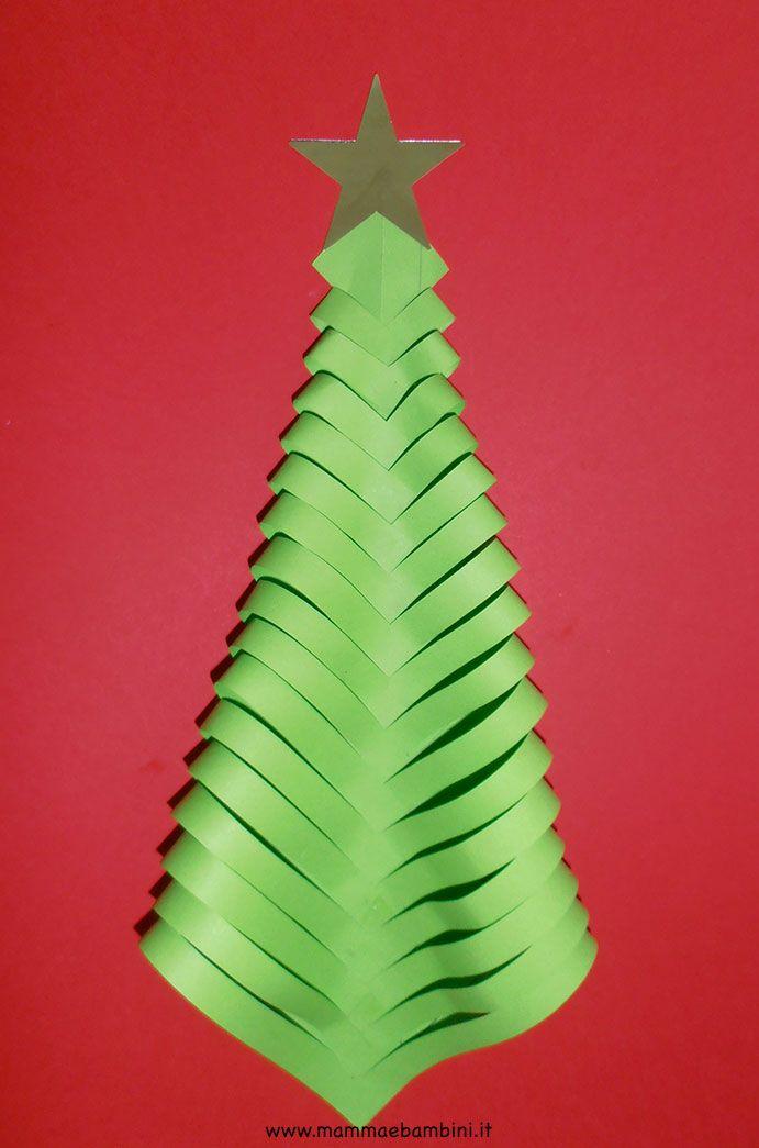 Lavoretti Di Carta Natale.Addobbi Per Natale Con Albero Di Carta Da Realizzare Con Un