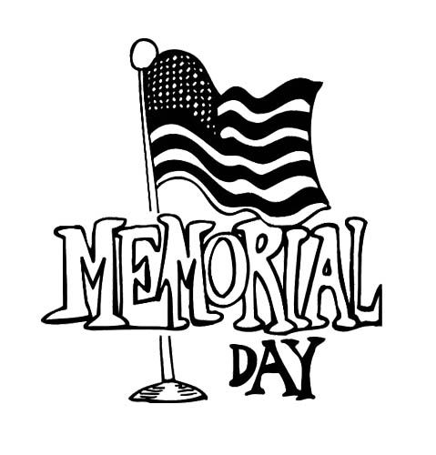 Flag Memorial Day Coloring Page
