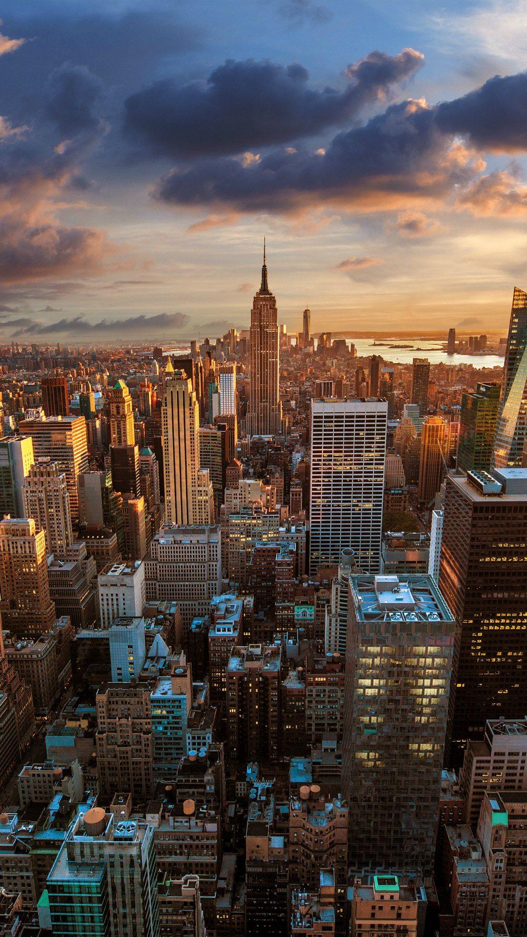 New York City Sunset New York Wallpaper City Wallpaper York Wallpaper