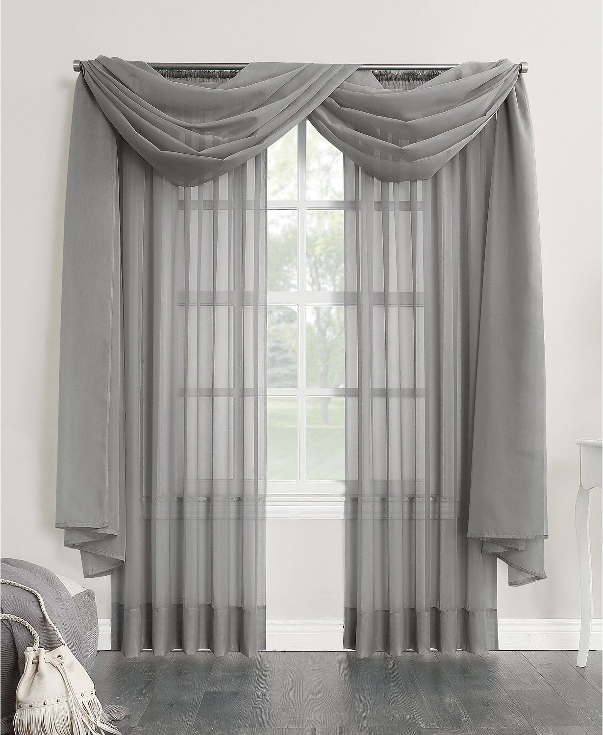 No 918 Sheer Voile Rod Pocket Curtain Panel 216 Window Curtains Living Room Curtain Styles Living Room Decor Curtains Sheer curtain ideas for living room
