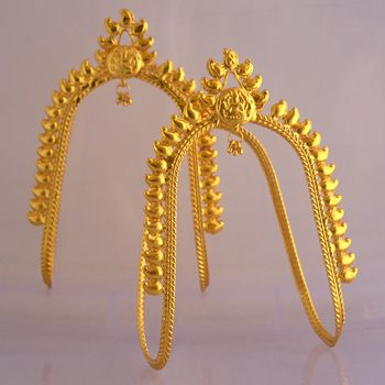 Golden vankiarmlet free size height 4 inch India jewelry Dance