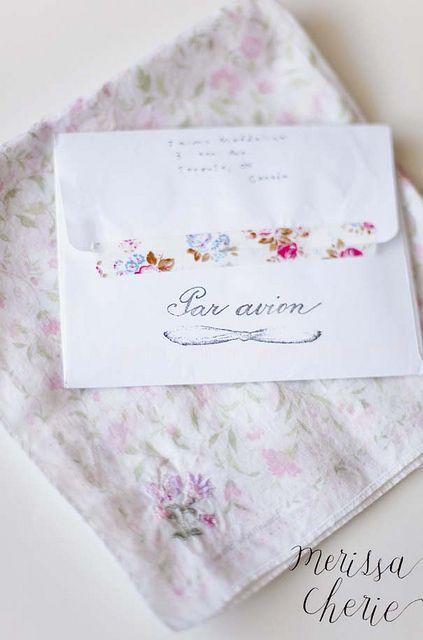 Par Avion envelope by Merissa Revestir, via Flickr