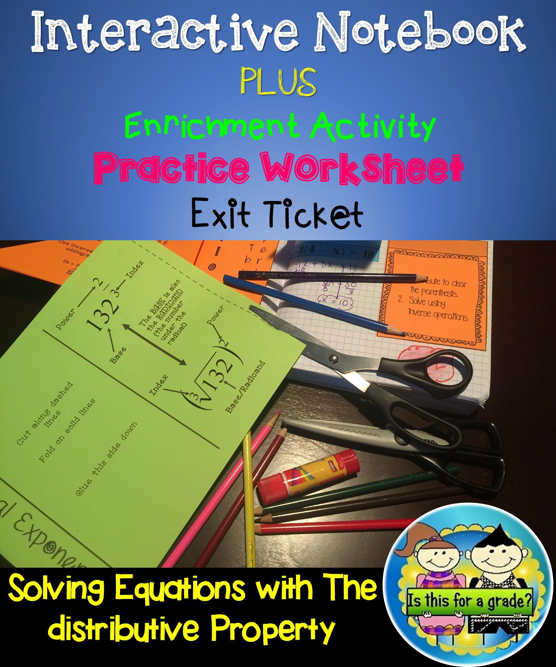 Solving Equations With The Distributive Property Foldable