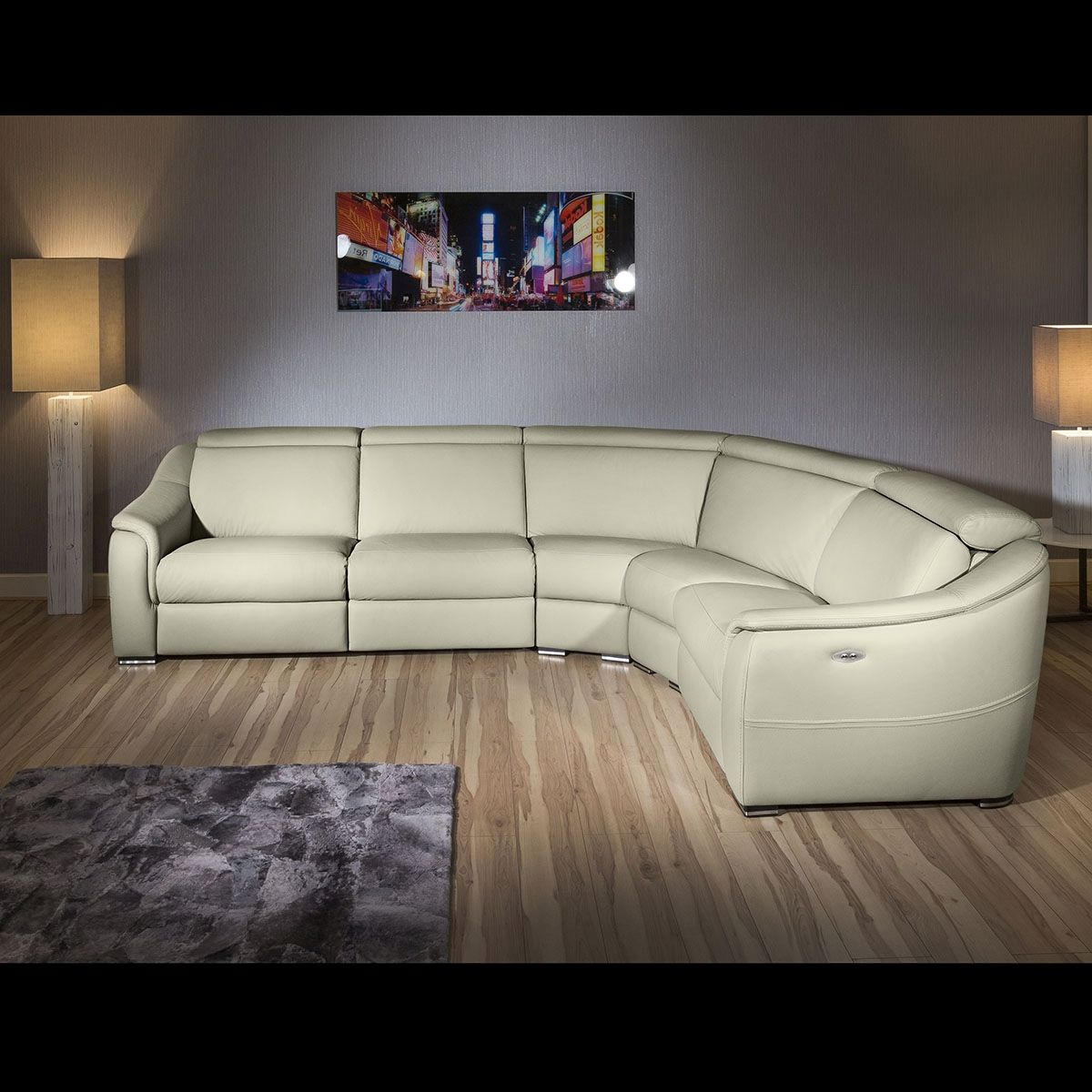 Corner L Shape Sofa Recliners