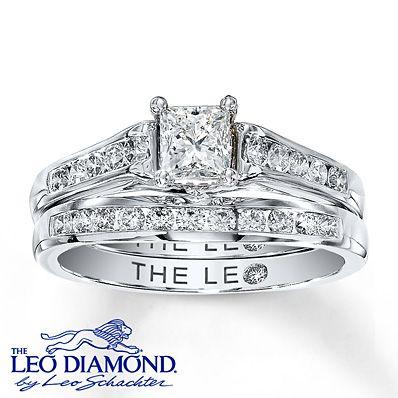 a breathtaking princess cut leo is the centerpiece