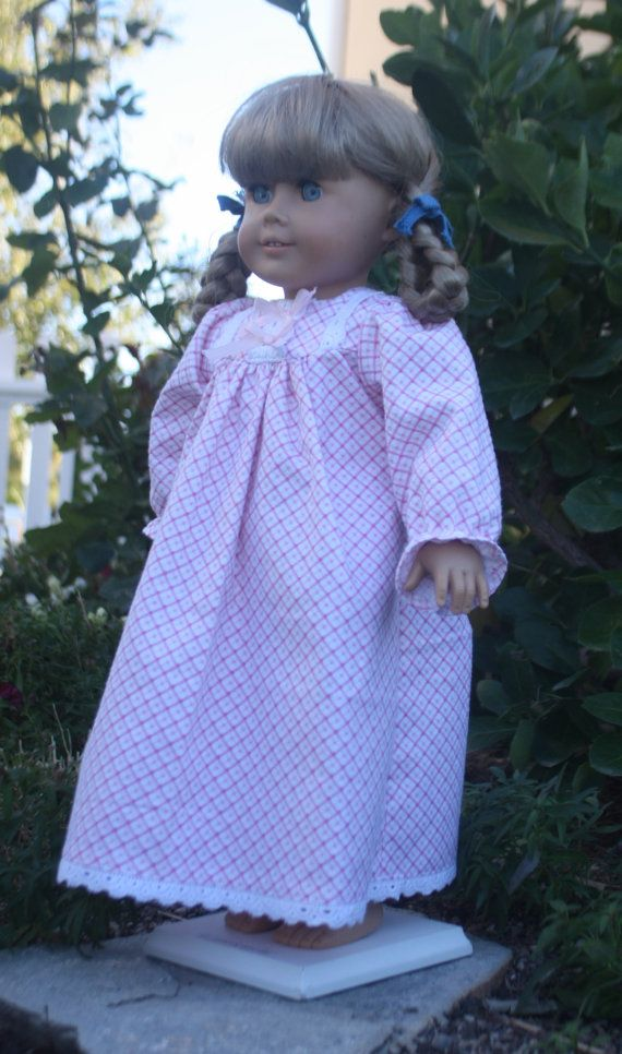 American Girl Nightgown in Pink by RuthielovestoSew on Etsy