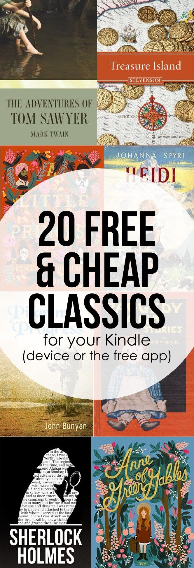 20 Free or Cheap Classic Kindle Books   Mom Life is the Best