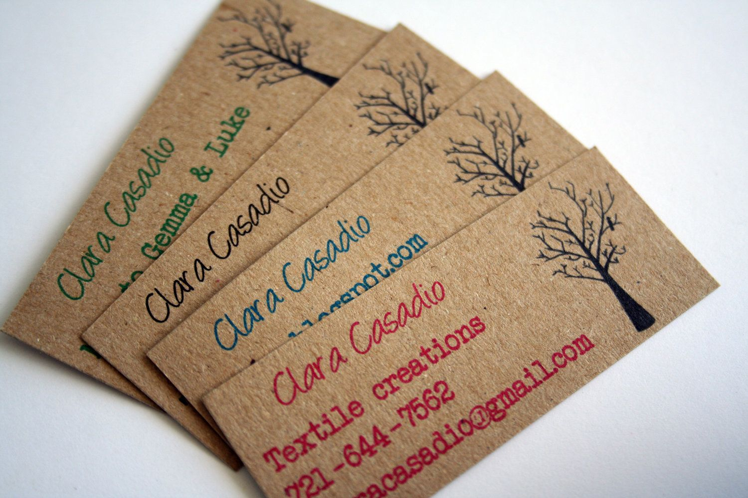 Mini Business Cards Calling Recycled Kraft Paper Set Of Via Etsy