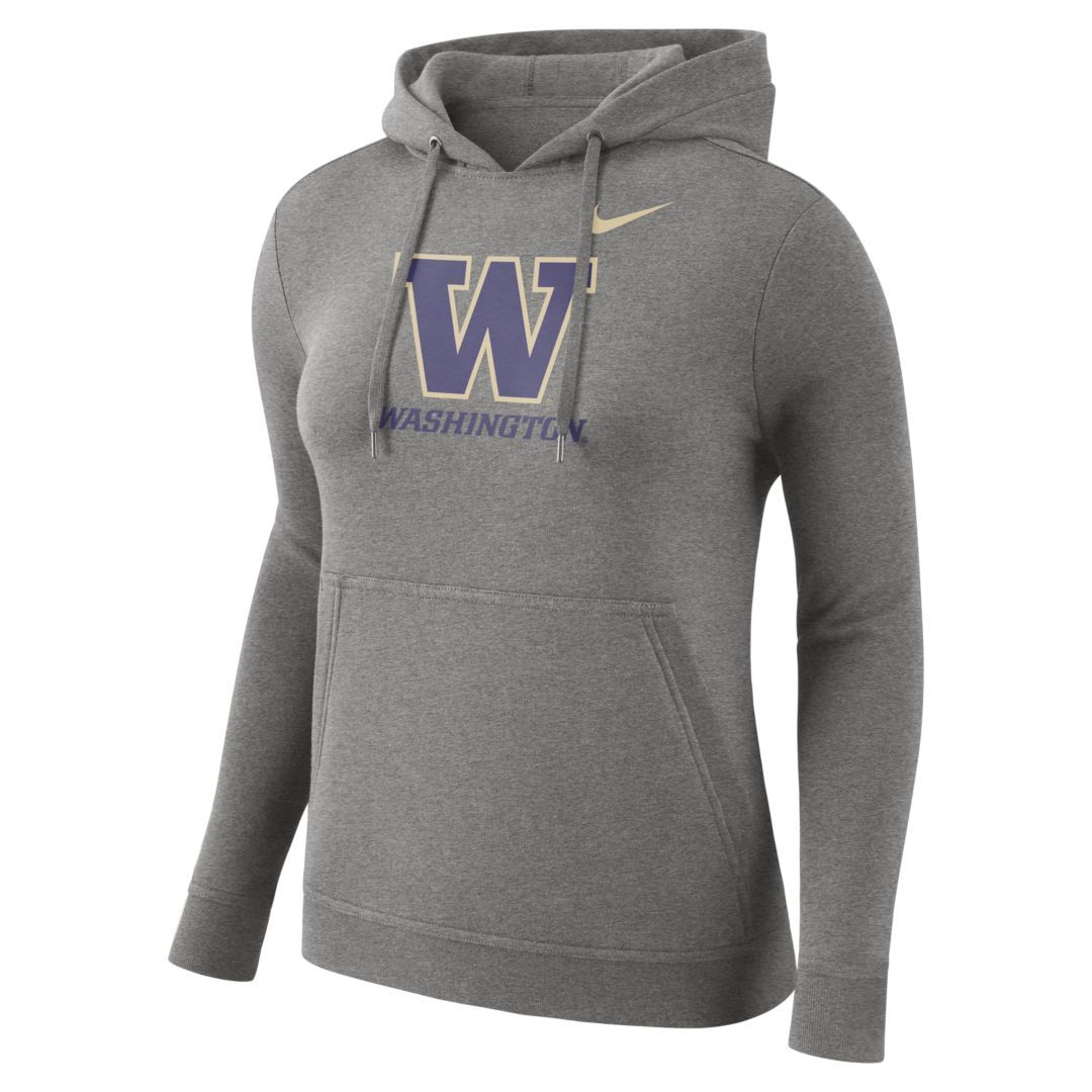 ddf2f73a7b73 Nike College Club (Washington) Women s Pullover Hoodie Size 2XL (Dark Grey  Heather)