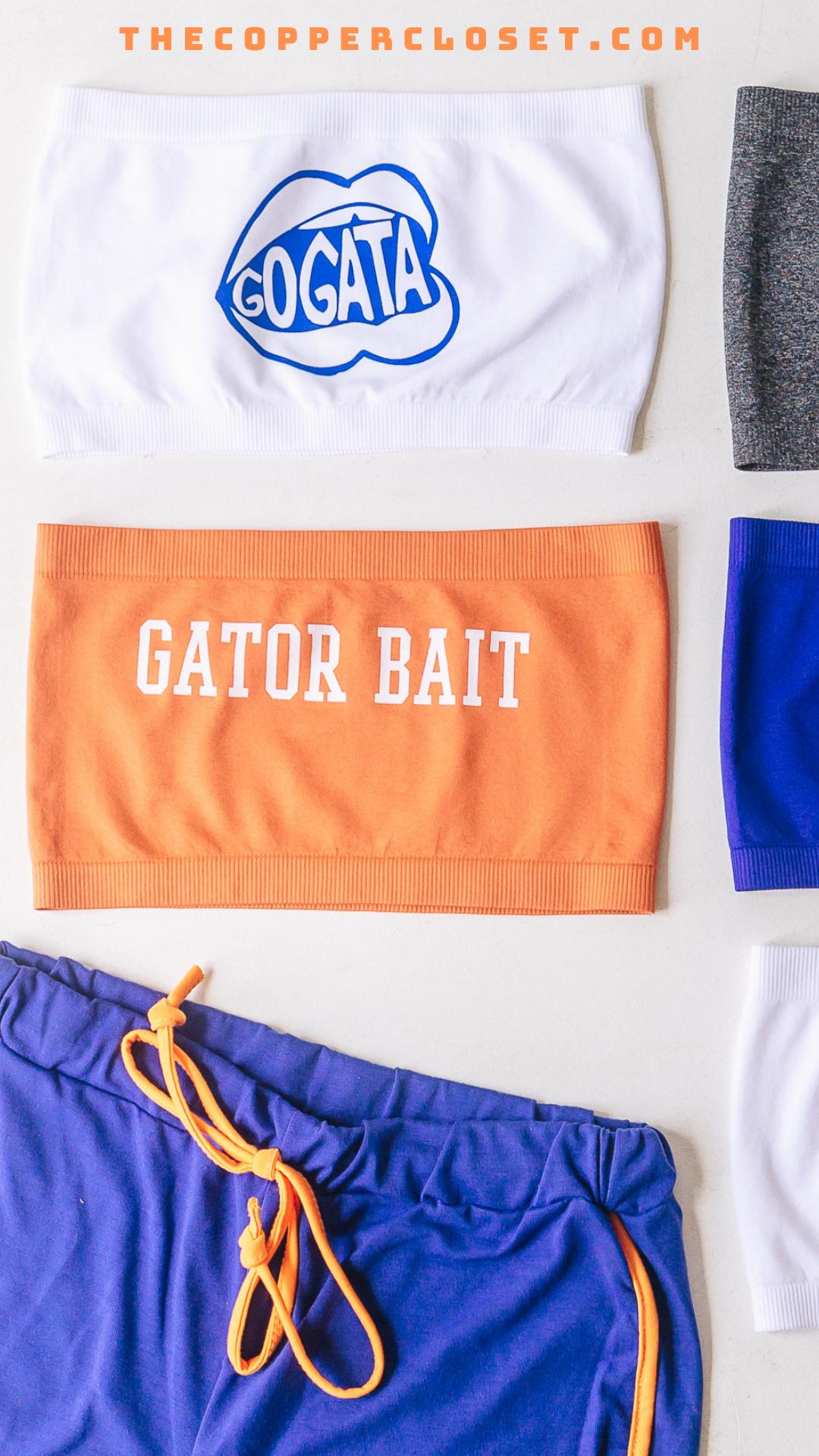 Orange White Gator Bait Tube Top Gameday Outfit Florida Outfits Football Fashion