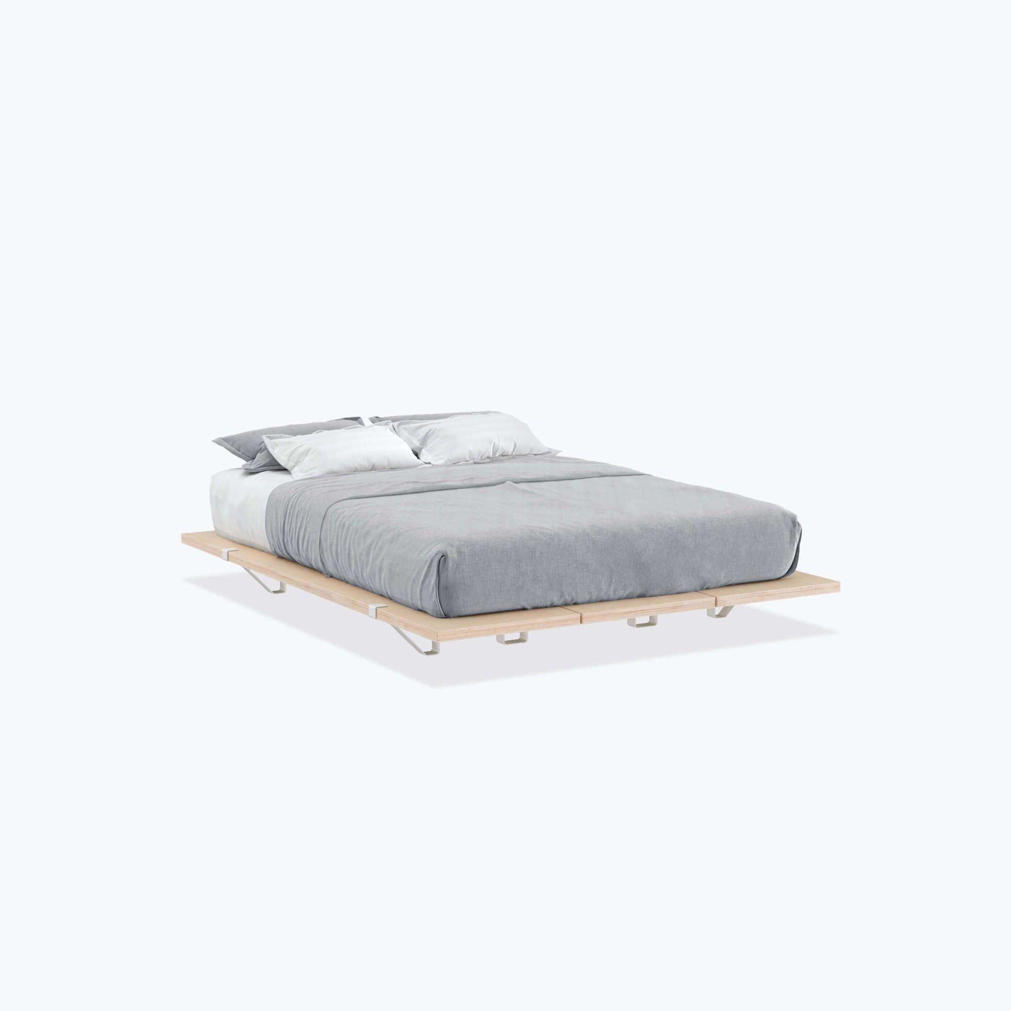 The Floyd Platform Bed Frame In Queen Or Full Size With White