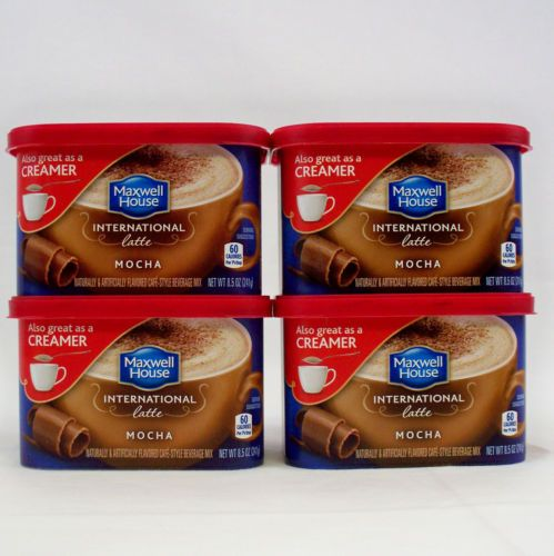 4 Maxwell House International Latte Mocha 8 5 Oz Each